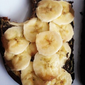 Bread and banana sandwitch