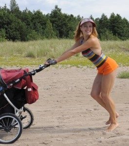 stroller is my fitness on the beach
