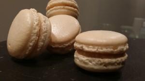 Caramel macarons by Julija Baranova