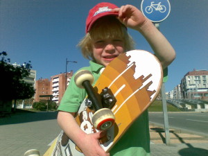 Jegor with his skate