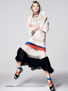 Walking looks by Sasha Pivovarova_for US Vogue