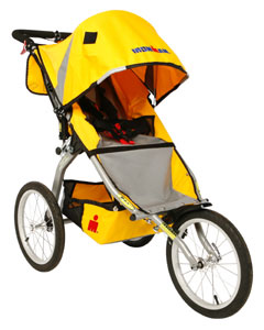 BOB Ironman stroller yellow