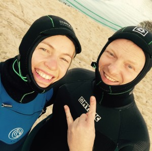 two in a wetsuit balaklavas