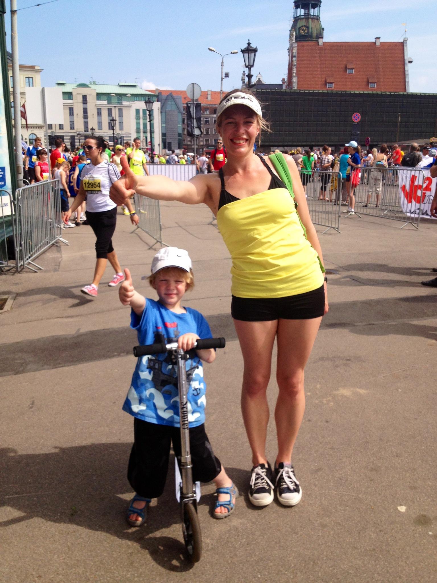Nordea 4 miles run with the kid
