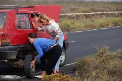 Tire Sealant Women Changing Tires
