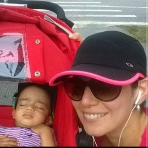 Venus with Esai in the stroller