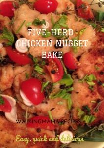 Five Herbs Chicken Nugget Bake