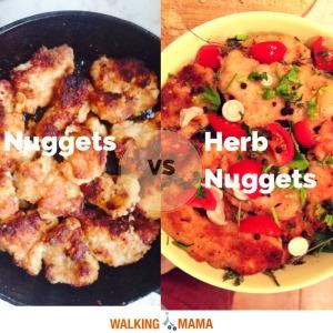 Chicken nuggets vs herb nugget bake