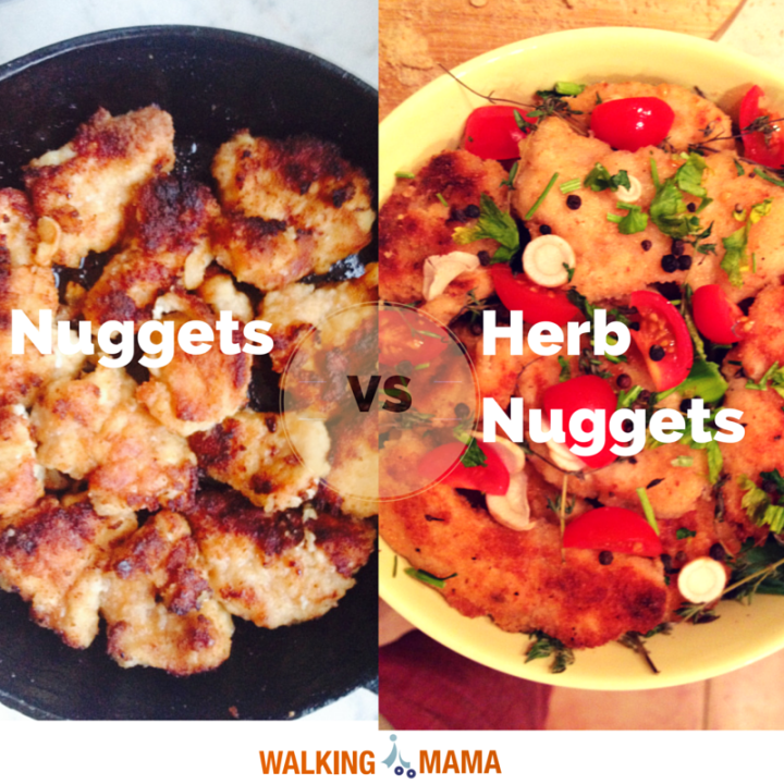 Chicken nuggets vs herb nugget bake