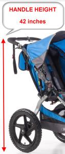 Bob-Sport-utility-stroller-handle-height