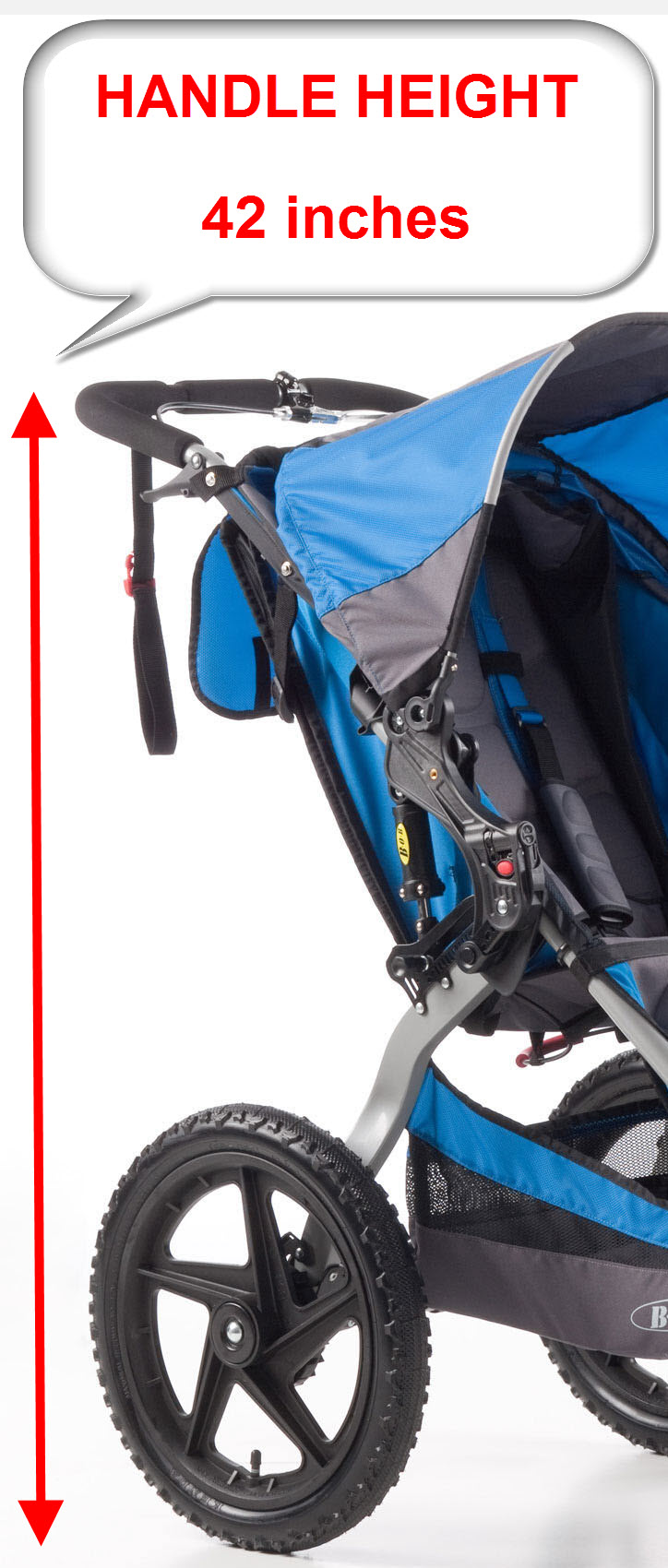 Bob-Sport-utility-stroller-handle-height