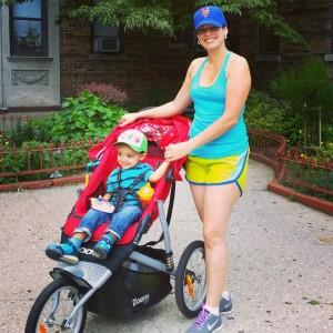 Venus with teh jogging stroller